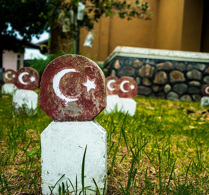açe, mezarlık