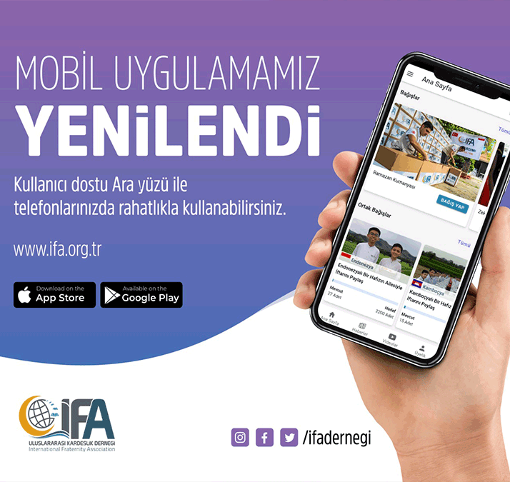 mobil uygulama, sizlerle, haber, uygulama, bağış, yetim, zekat, pratik